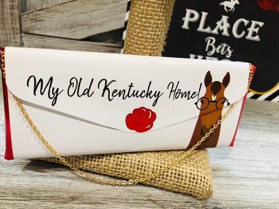 WRAPPER ONLY. Kentucky Derby Chocolate Clutch Purse, Kentucky Derby Party Chocolate Favors, Derby Chocolate Party Favors.  Set of 20.