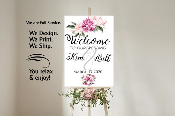 4 sizes available Welcome to our wedding poster, Welcome to our Forever Sign, Welcome to our wedding sign,