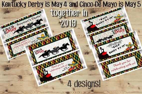 WRAPPERS ONLY.  Cinco de Derby party, Kentucky Derby and Cinco de Mayo favors, Cinco de Mayo.  Set of 20