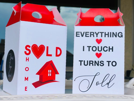 Business Marketing Boxes, Real Estate Marketing Boxes, Real Estate Candy Boxes, Corporate Creative Marketing Box.  Sets of 10.