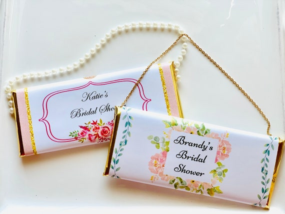 WRAPPERS ONLY:  Floral Chocolate Clutch Purse, Bridal Chocolate Clutch Purse, Bridesmaid Chocolate Clutch Purse, Set of 20
