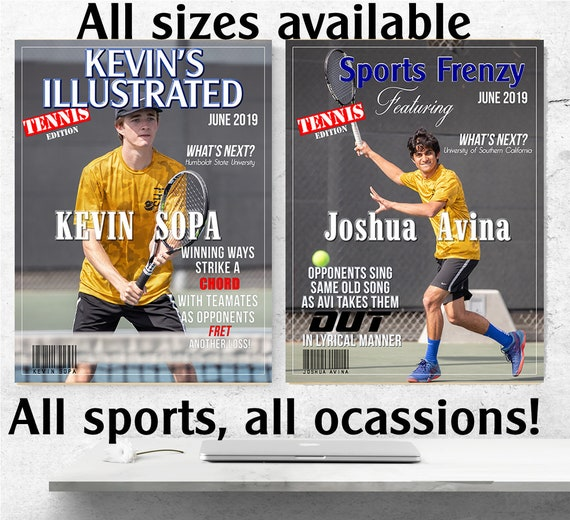 High School Sport Magazine Cover,  Sports Magazine Cover, Magazine Fun Covers, Fun Magazine Covers, Graduation Magazine Cover.  Price for 1.