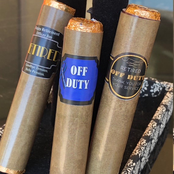 FULLY ASSEMBLED. Retirement  Cigars party favors, Retirement favors, Retirement Chocolate Cigars, Retirement custom Set of 12