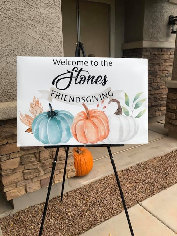 4 sizes available  Friendsgiving Welcome Poster, Thanksgiving Welcome Poster, Friendsgiving Welcome Sign, Thanksgiving Welcome Sign.