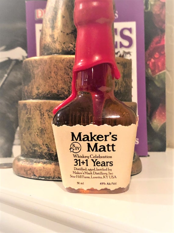 Bourbon Mini Liquor Bottle Label, Mini liquor bottle labels, Birthday Mini Liquor labels, Mini Liquor Birthday Bottle labels.Set of 12