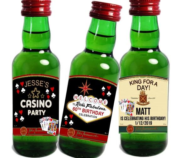 Irish Whiskey Mini Liquor Bottle Label,Casino liquor bottle labels,Las Vegas Mini bottle labels,Vegas Party liquor bottle labels. Set of 12