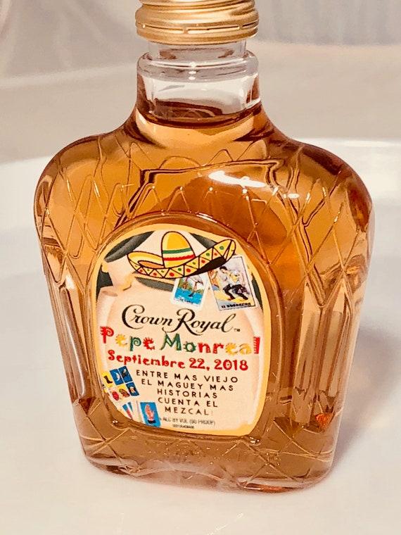 Small liquor bottle labels, Cinco de Mayo mini liquor bottles.Whiskey mini bottle labels.Cinco de Derby mini liquor labels.Set of 12 labels.
