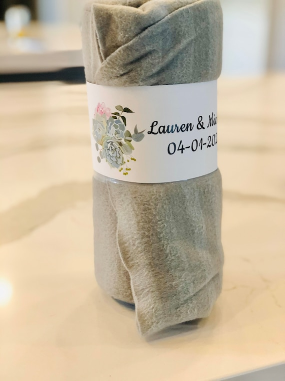 To Have and To Hold in Case You Get Cold Blanket Wrapper, Wedding Blanket Wrapper, To Have and To Have Wedding Favors,  Set of 10.