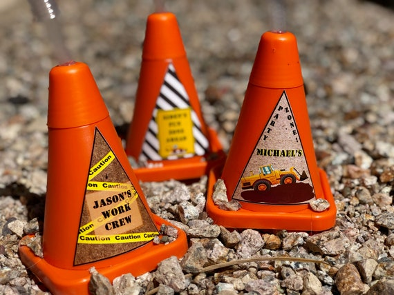 Construction Cone Birthday Party,Work Zone party theme,Digg'in Party, tracker birthday party,Construction Cups with Straws.Sold in sets of 8