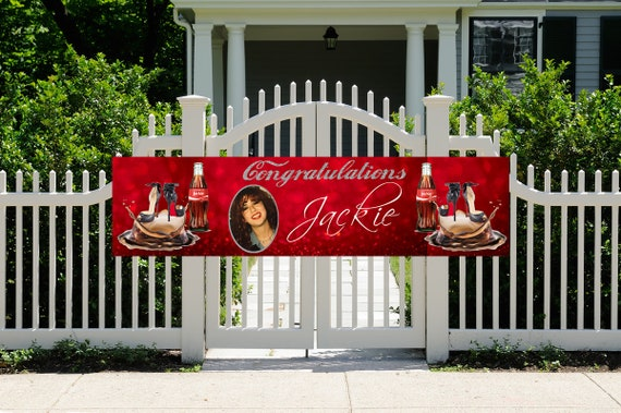 FAST TURNAROUND. Red and stylish Birthday Banner, Fashion Birthday Banner, Elegant High Heel Birthday Banner. See Listing for sizes.