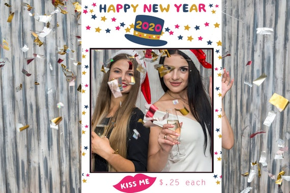 4 sizes available.New Years Photo Frame Prop with Cut-Out, New Years Eve Party Photo Frame, New Years Eve Photo Frame Poster.