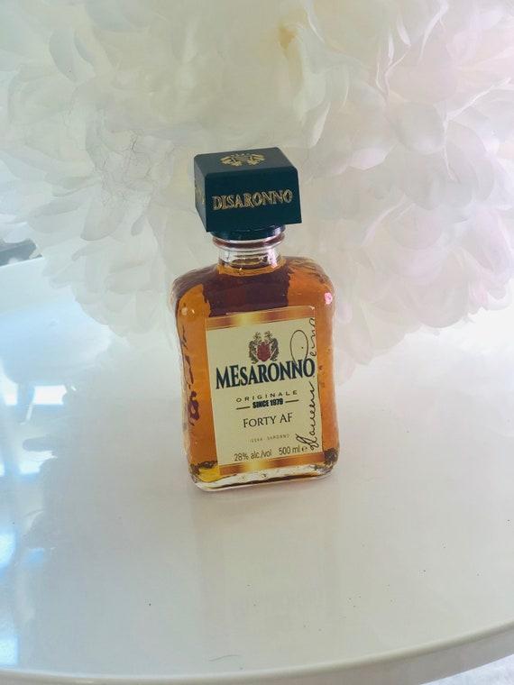Amaretto Mini Liquor Bottle Label, Mini Liqueur bottle labels, Birthday Mini Liquor labels, Mini Amaretto Liquor Bottle labels. Set of 12
