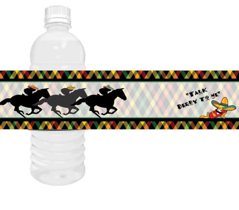 Cinco de Mayo and Kentucky Derby Water Bottle Labels Derby de Cinco Talk Derby to me water bottle labels. Cinco de Derby