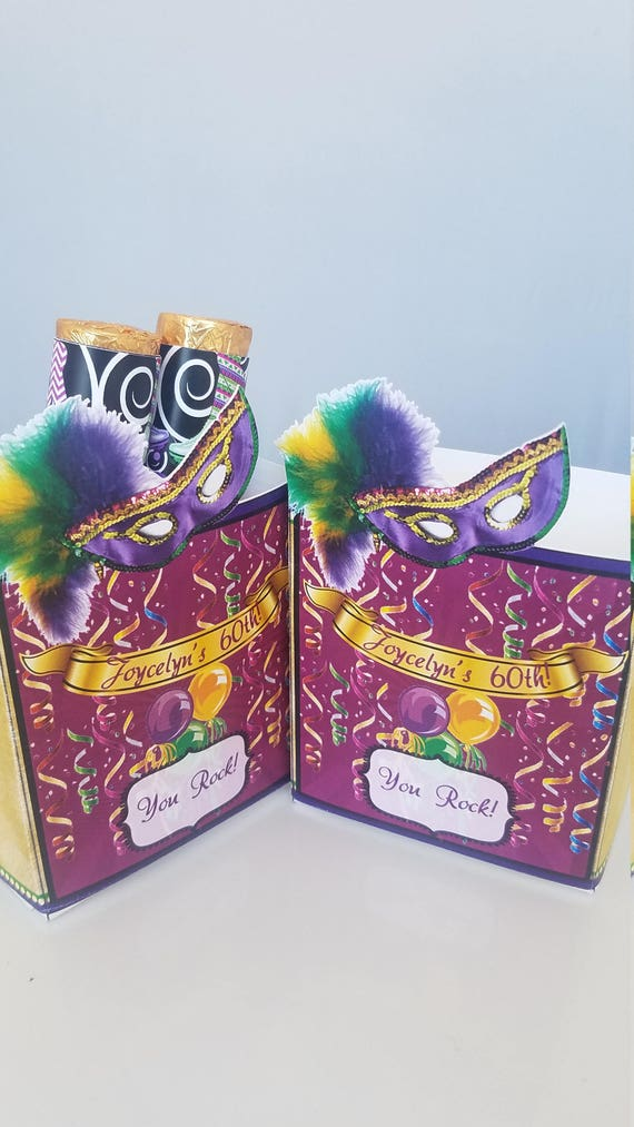 60 Mardi Gras Self-AdhesiveCandy Wrappers Party Decorations Party Supplies