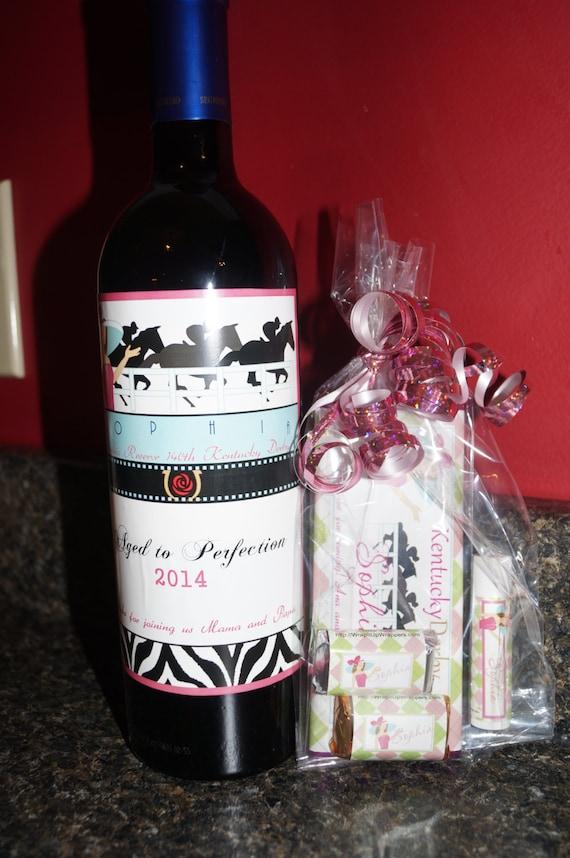 Kentucky Derby Wine Labels, Kentucky Derby party favors, Derby party favors, party favors Kentucky Derby favors, wine labels, Set of 4.