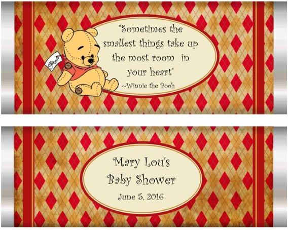 Emballage de barre bébé bonbon. Winnie lourson ours des   Etsy c24581b26e4