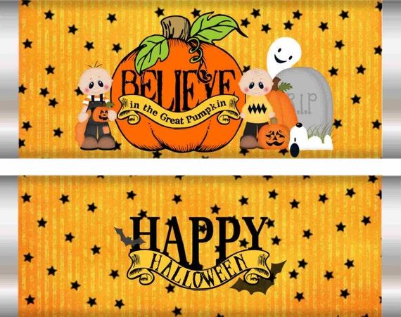 Pumpkin Candy Bar Wrappers