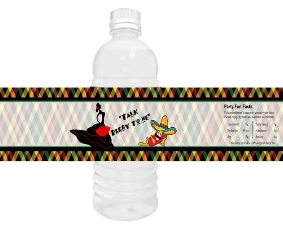Cinco de Mayo and Kentucky Derby Water Bottle Labels, Cinco de Derby, Derby de Cinco, Talk Derby to me water bottle labels.