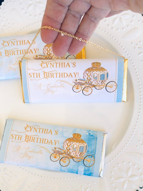 WRAPPER ONLY. Princess theme party chocolate bars, Princess Chocolate Bar Wrappers, Princess Chocolate Purse. Set of 20