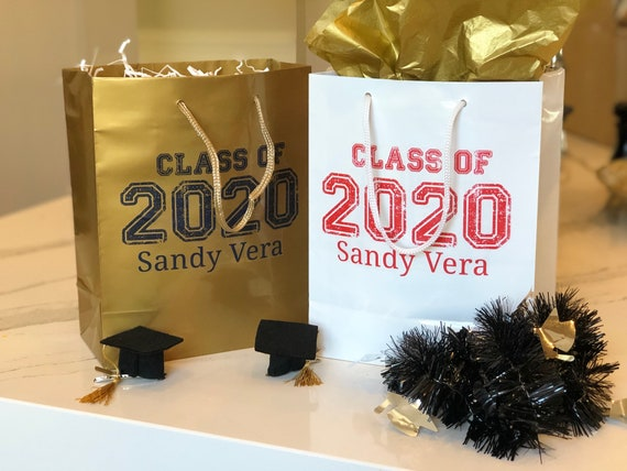 Graduation Bags, Class of 2020 Graduation Gift Bag,  Senior Graduation Gift Bag, Graduation Gift Bag, Listing Price is for 1 Gift Bag.