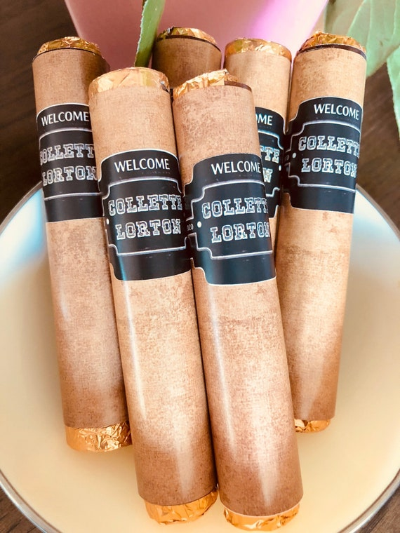 It's a Boy Chocolate Cigars, It's a Girl Chocolate Cigars, Birth Announcement Chocolate Cigars, Baby Shower Chocolate Cigars. Set of 24