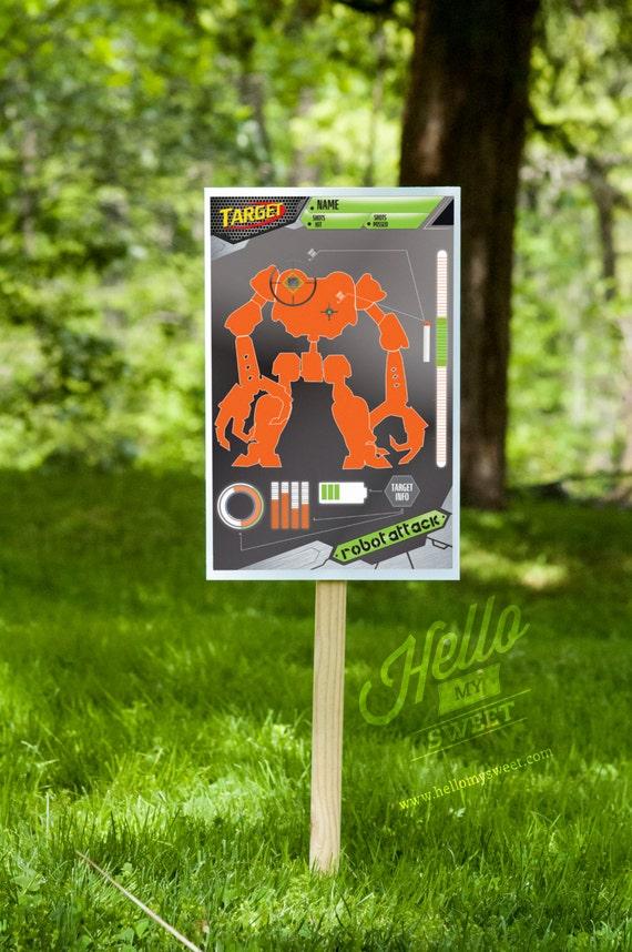 photo regarding Printable Shooting Targets 11x17 called Foam Dart Gun Blaster Taking pictures Plans Robots Get together Online games
