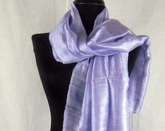 Scarf Thai Silk Blue Ladies Fair Trade Wrap 100/% Raw Silk Scarf Wedding Prom