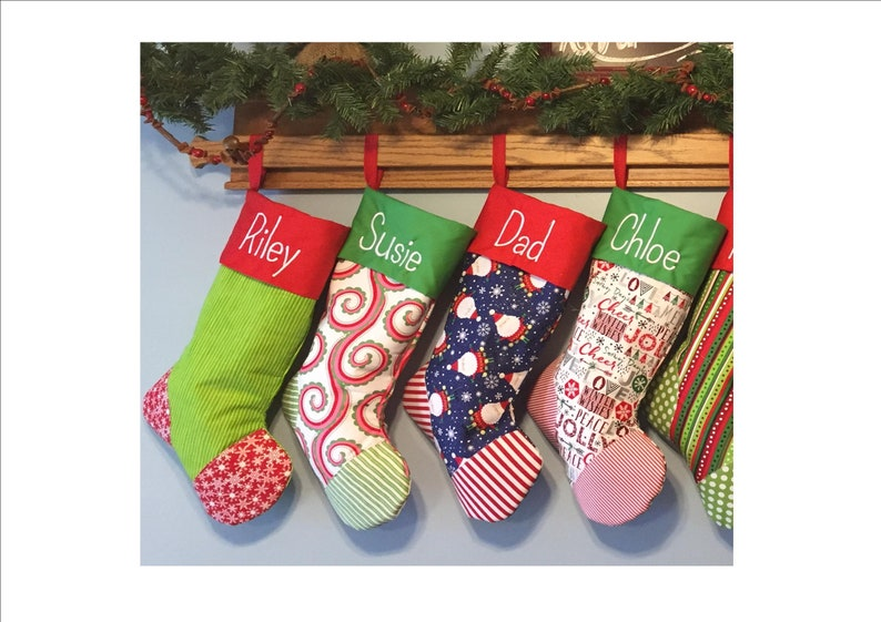 Monogrammed Embroidered Christmas Stockings 16 to choose from Free Personalization