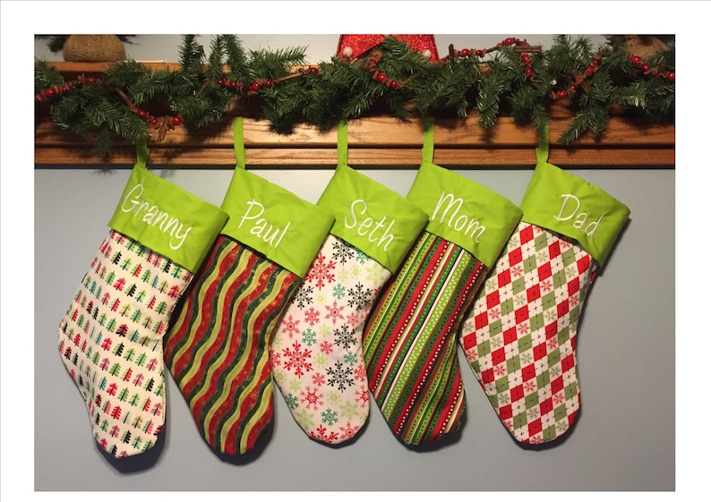 Christmas Stockings Personalized  24 fabrics to choose from