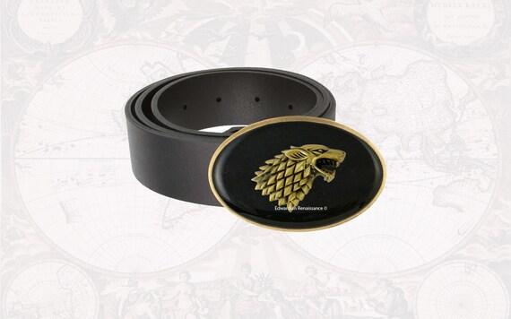 Wolves Black /& Gold Belt Buckle