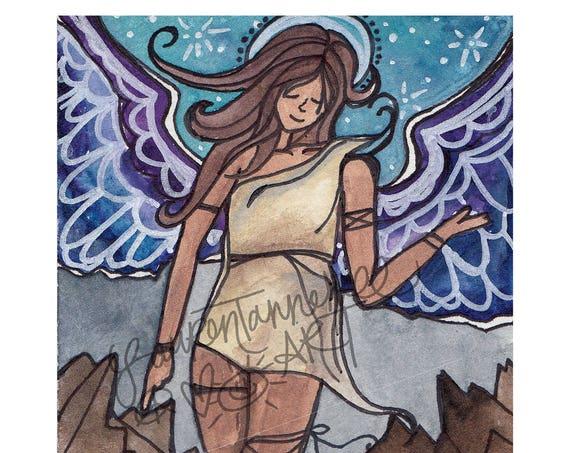 11x14 Large Print, Matriarch Guardian Angel Art by Lauren Tannehill Art