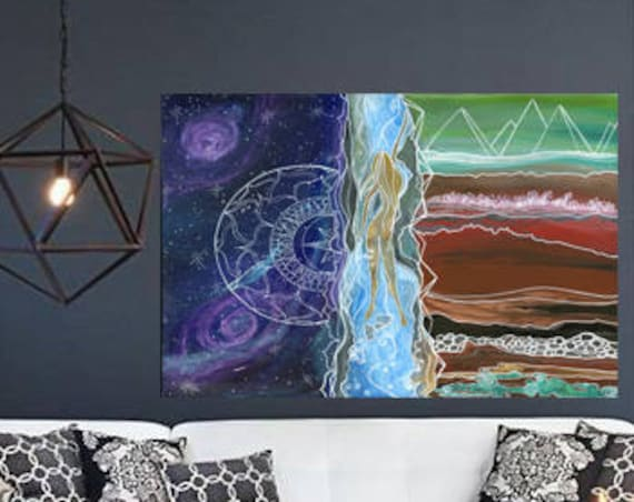 Large Canvas Print Spiritual Journey, In the Flow by Lauren Tannehill ART