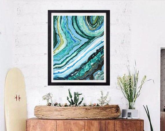 20x30 Canvas Print Agate Slice Caribbean Agate