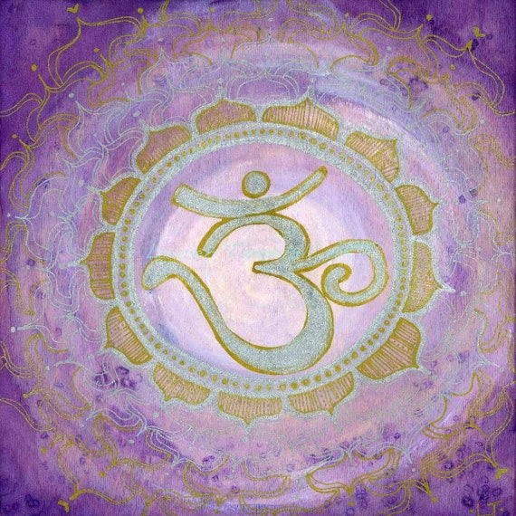 8X8 Crown Chakra Mandala Print by Lauren Tannehill ART