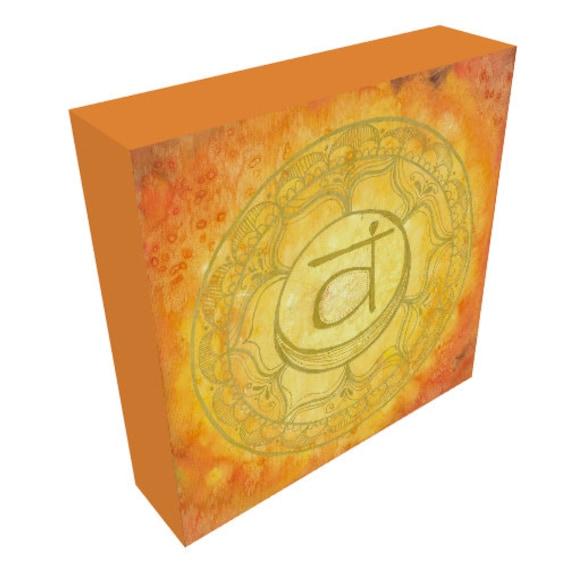 Canvas Print Sacral Chakra Mandala Sacred Geometry Rainbow Yoga Art by Lauren Tannehill ART