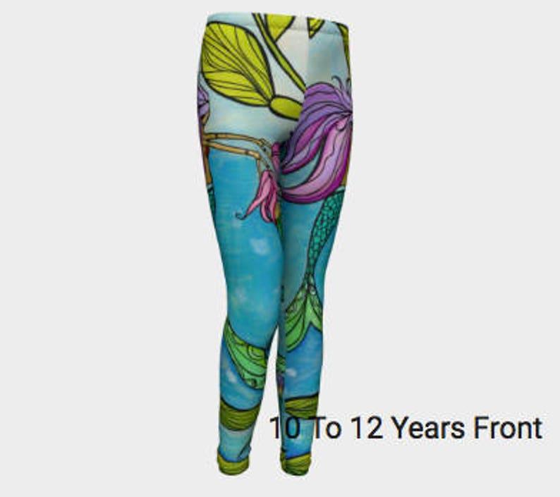 c21e97d88ab281 YOUTH Little Girls Mermaid Leggings 4/5T-10/12 Youth Little | Etsy