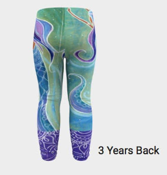 d0b3e911ec6f4 Baby Mermaid Leggings 6mths-3yrs Original design by Lauren   Etsy