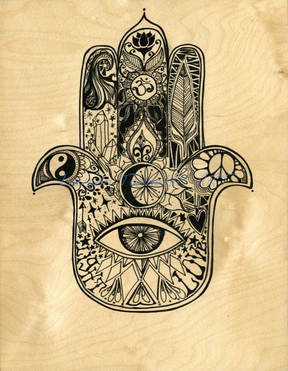 Canvas Print Hamsa Painting Design by Lauren Tannehill Art