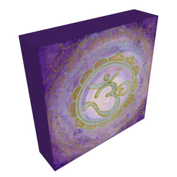 Canvas Print Crown Chakra Mandala Sacred Geomety by Lauren Tannehill Art