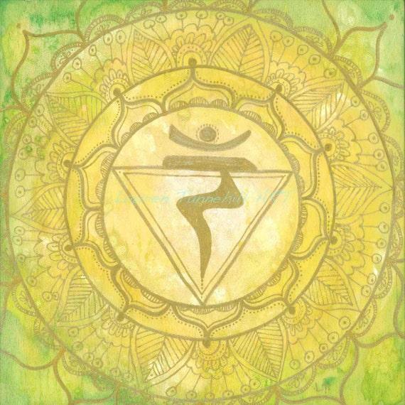 8X8 Solar Plexus Chakra Mandala Print by Lauren Tannehill ART