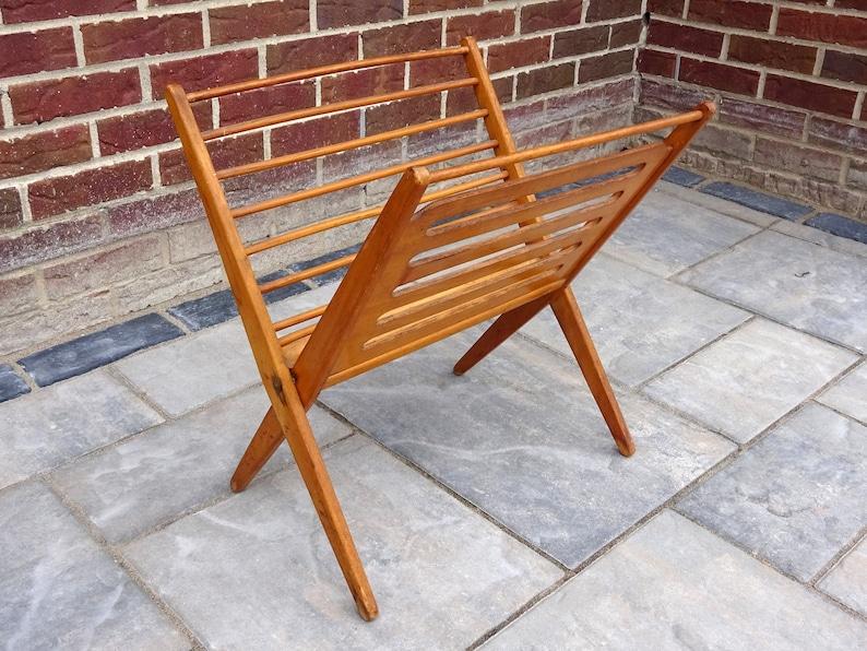 Cool Mid Century Danish Modern Nevco Folding Teak Wood Magazine Rack Onthecornerstone Fun Painted Chair Ideas Images Onthecornerstoneorg