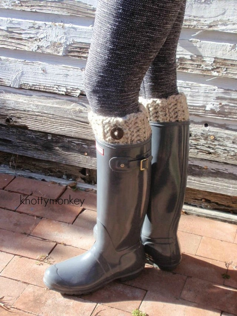 Womens Winter Warm Crochet Boot Cuffs Knitted Toppers Socks Leg Stretch Slouch