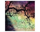 Night Sky Photo. Moon Art...