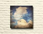 Bird on wire photo. Vinta...