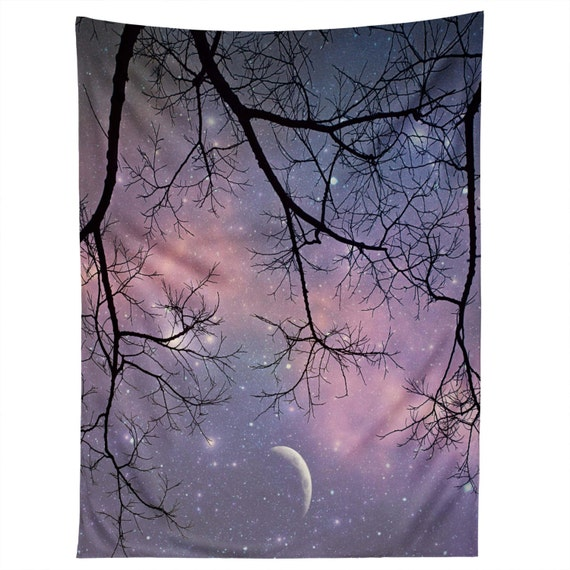 Starry Night Sky Wall Hanging Wall Art Tapestry Purple