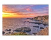 Sunset Over Ocean. Sunset...