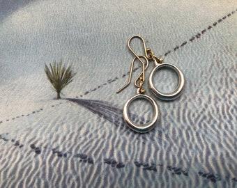 medium drop hoop earrings