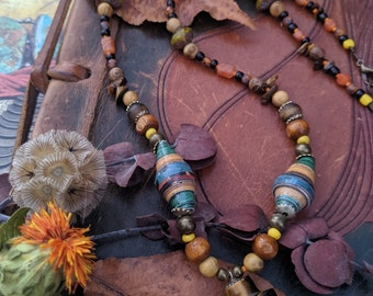Tiger's Eye Magic rustic unisex necklace