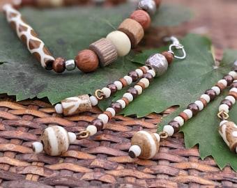 Bones of the Land African bone beaded jewelry set