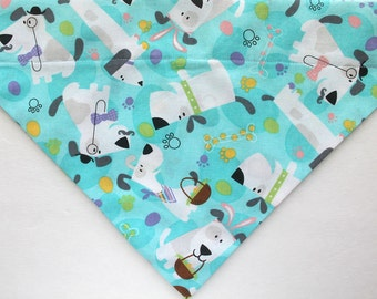 Easter Dog bandana, over the collar Bandana / Scarf, pet bandana, slip on dog bandana